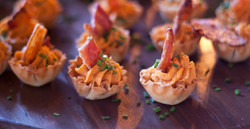 Devilish Eggs with Bacon