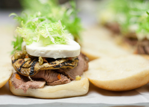 Mediterrean Pork Sandwich