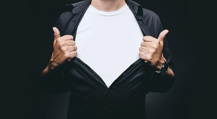 Man with shirt