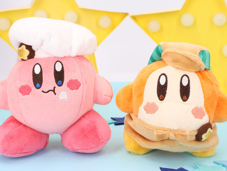 Kirby Café Store Selling New Small Size Plushes of Kirby and Apron Waddle Dee