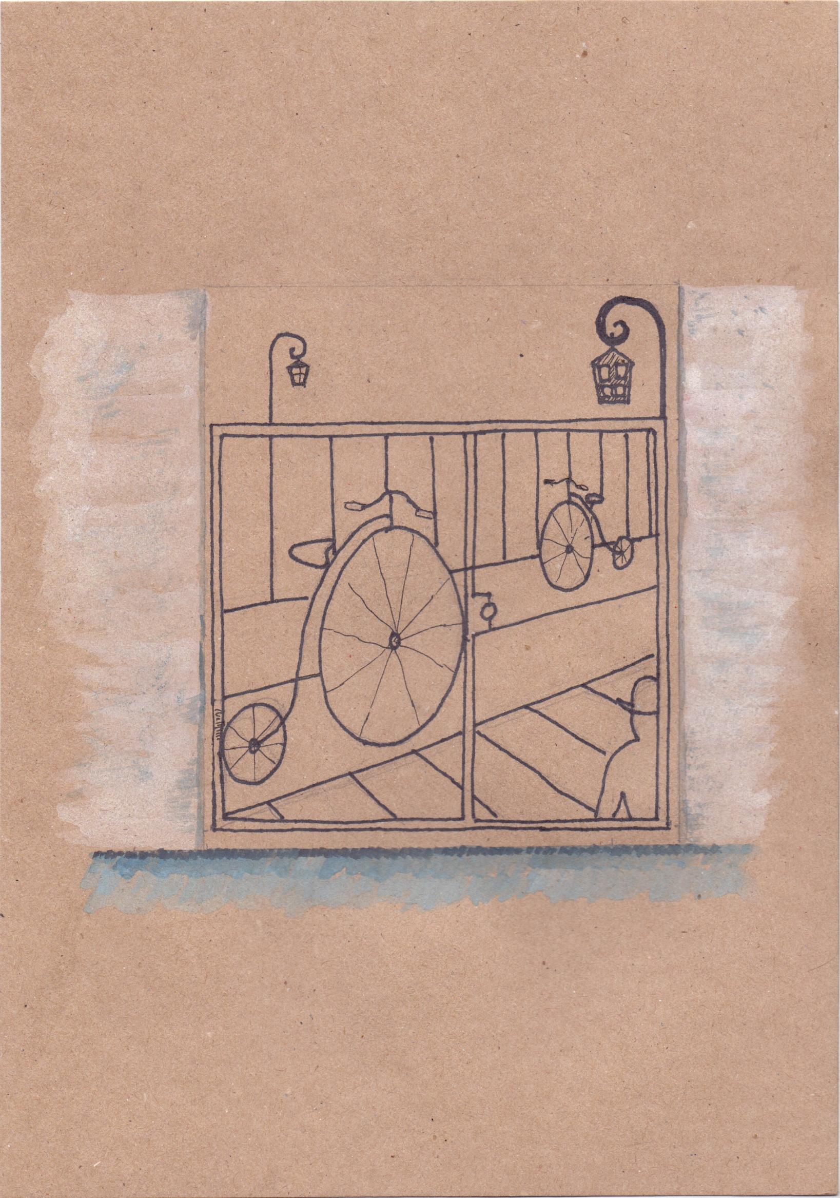 решетка на лестничной клетке