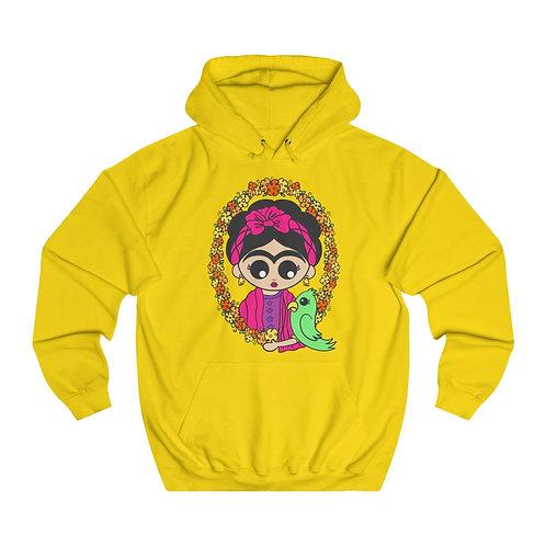 Frida Parrot Unisex College Hoodie