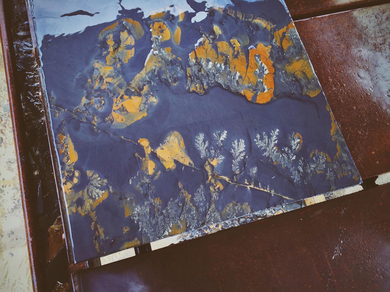 Patterns on slate