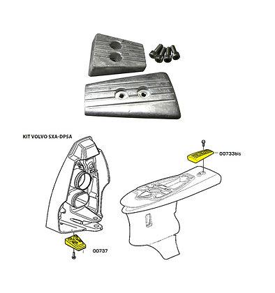 Комплект цинковых анодов Volvo Penta SXA/DPSA