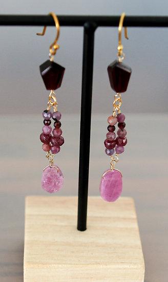 Ruby Slice Earrings