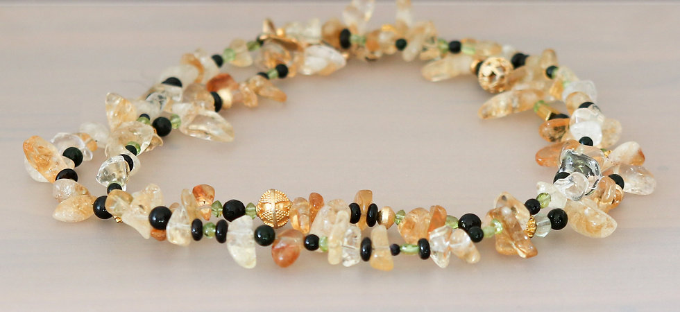 Citrine Double Strand Necklace
