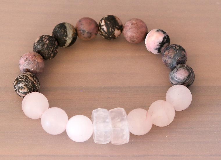 Rhodosite and Rose Quartz Bracelet
