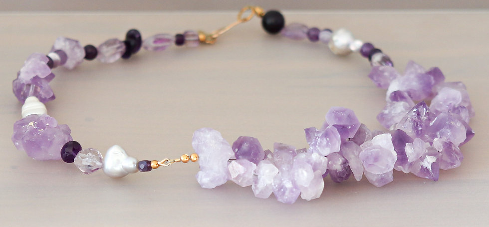 Purple Cloud Amethyst Necklace