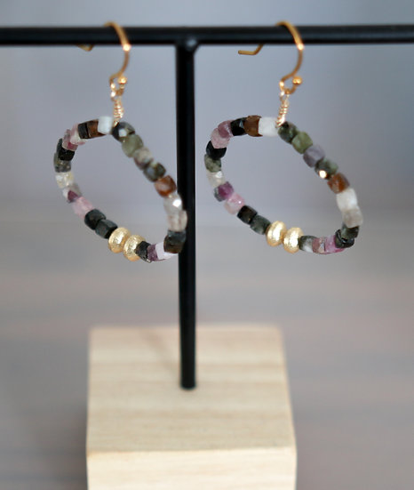 Tourmaline Hoop Earrings