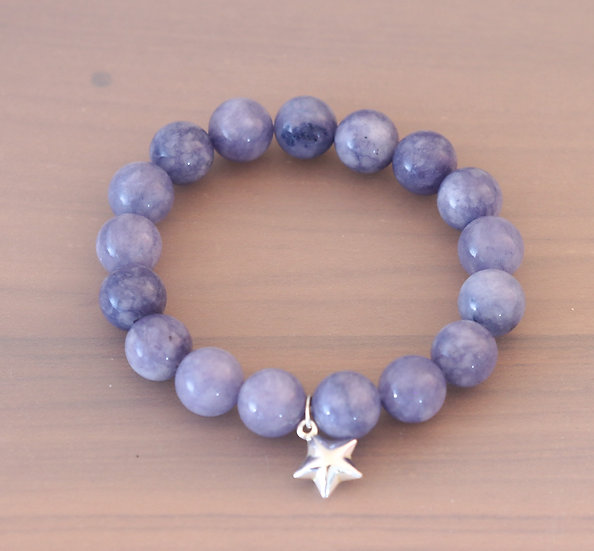 Tanzanite and Sterling Silver Star Charm
