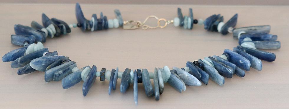 Blue Kyanite Stick Necklace