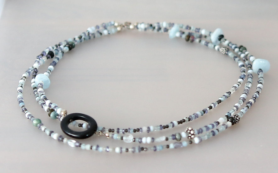 Tri-Strand Candy Necklace