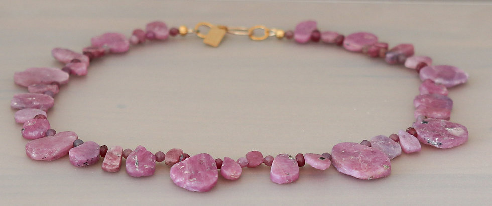 Ruby Slices Necklace