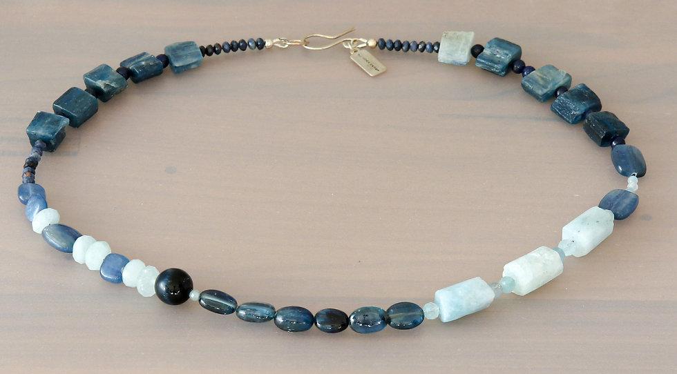 Kyanite and Aquamarine Necklace
