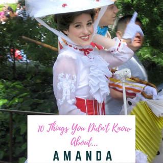 #10ThingsYouDidntKnow... About Amanda Cinelli