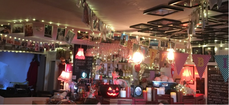 The Witchez Restaurant, where the food is amazing and they dressed the entire place in bunting and fairy lights for my birthday.