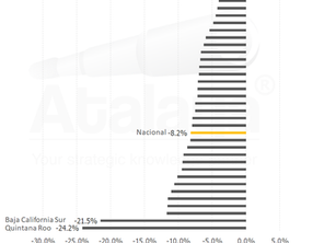 El peor año de la economía nacional, vista por estado