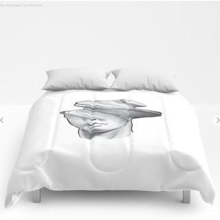 literally dizziness Comforters