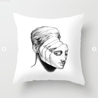 Multi character Throw Pillow