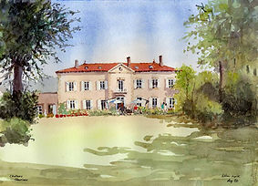 Allan Kirk's painting of Chateau Thuries