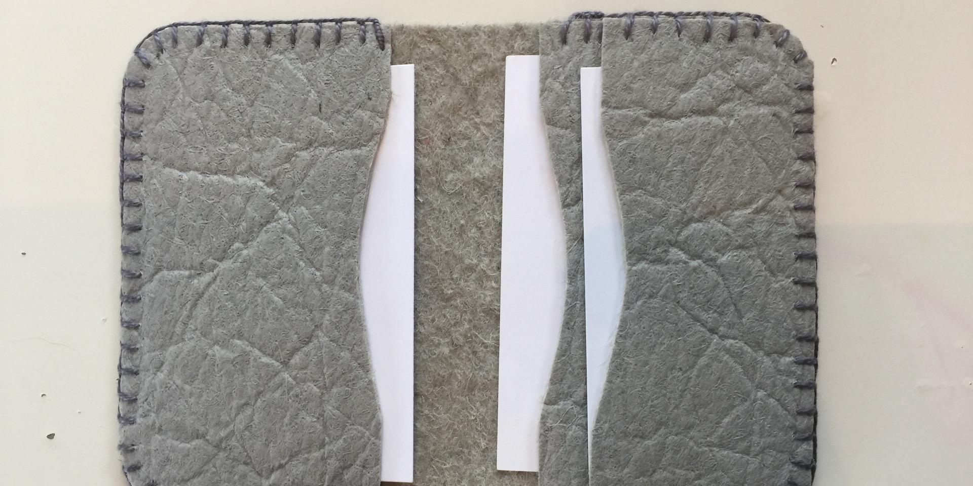 Piñatex Card Holder Grey