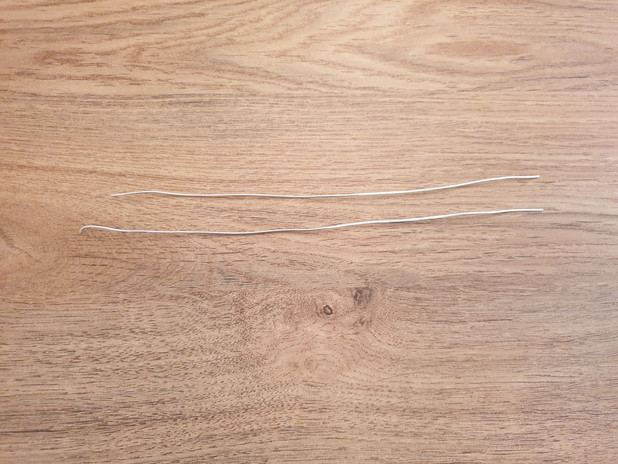 2 x metal wire