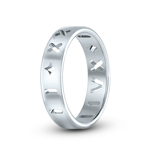Aquarius Roman Ring