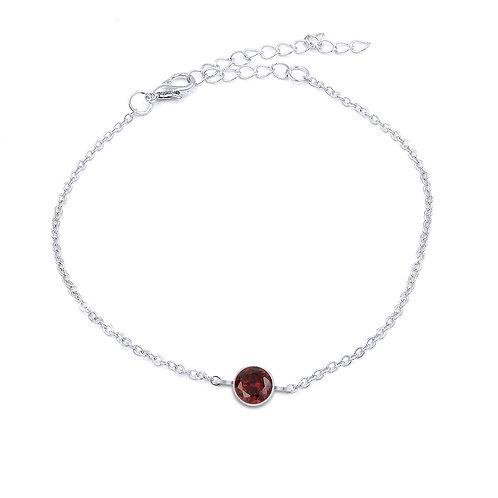 Birthstone Solitaire Crystal Bracelet