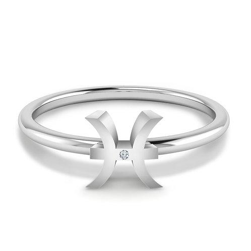 Pisces Symbol Ring