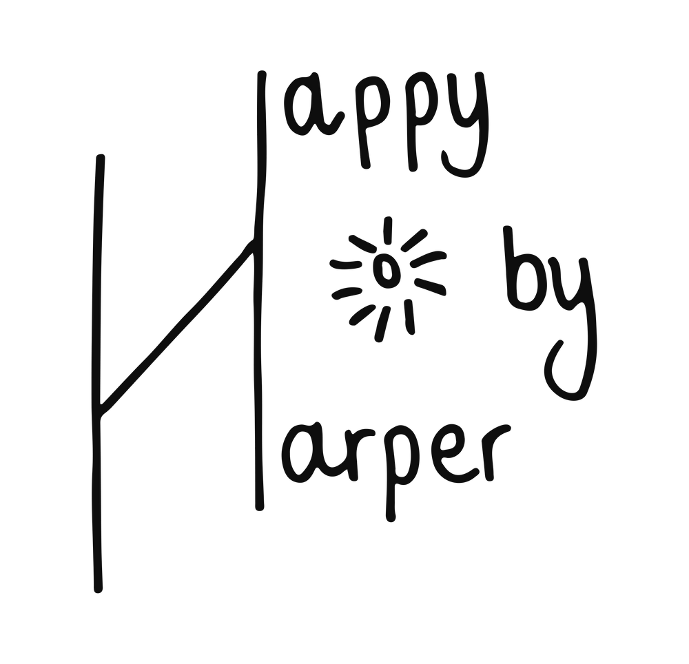 logo: handmade crafts by Happy by Harper