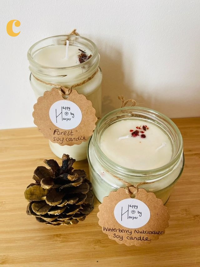 C - Soy Wax Winter Scent Candle
