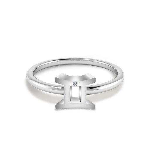 Gemini Symbol Ring