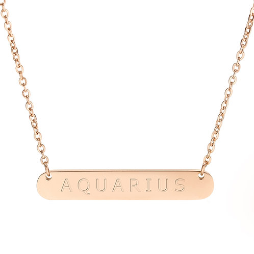 Time of the Signs Aquarius Necklace