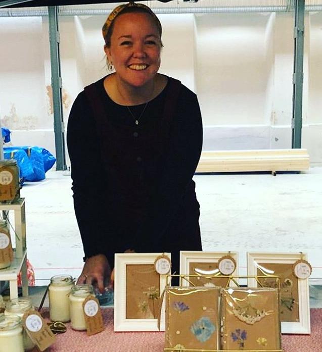 craft expert Sarah creates candles, cards and pottery