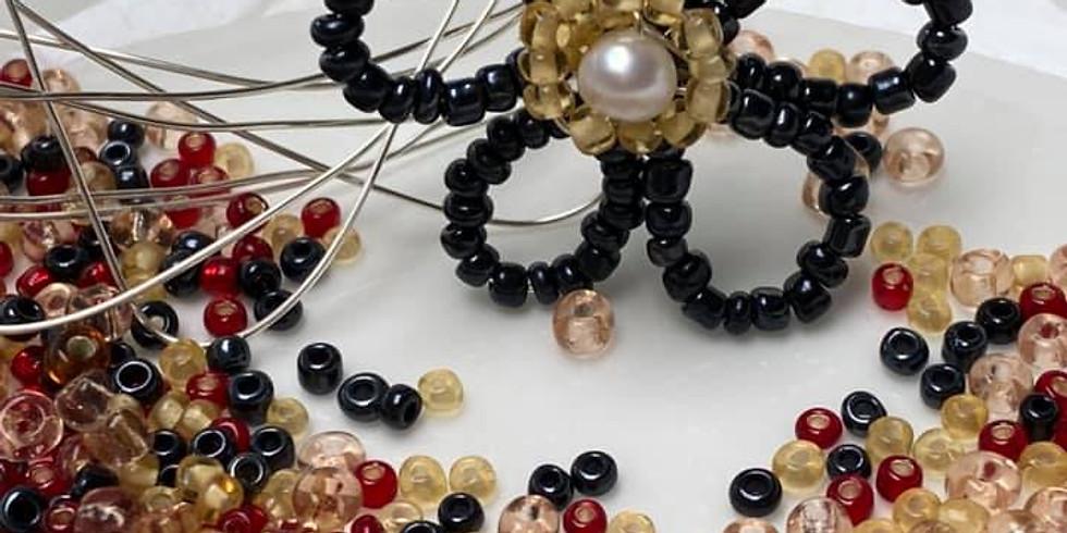 July Box - Glass Bead Hair Clip - £24.99