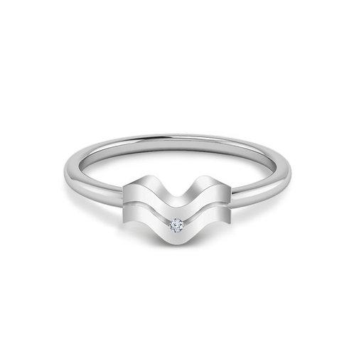 Aquarius Symbol Ring