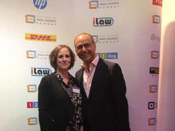Theo Paphitis and Karen Sheppard