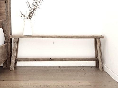 ספסל עץ ממוחזר 90 ס״מ