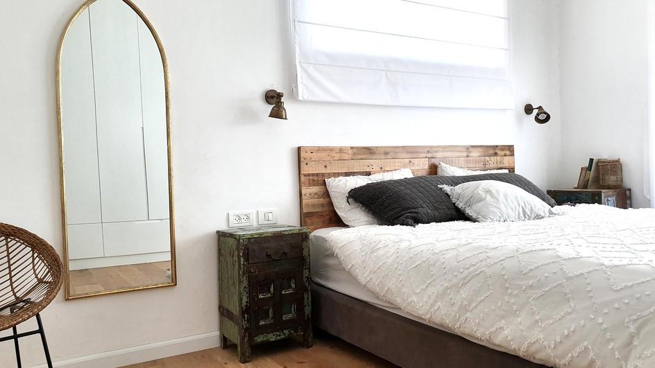 ראש מיטה מעץ