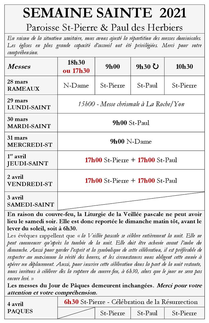 Messes dominicales - INFOS EGLISES - Sem