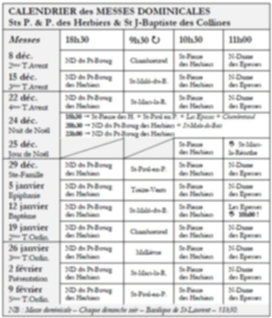 Horaires Messes Dominicales_2019-12+2020