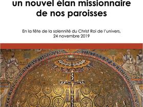 Ensemble pour un nouvel élan missionnaire de nos paroisses