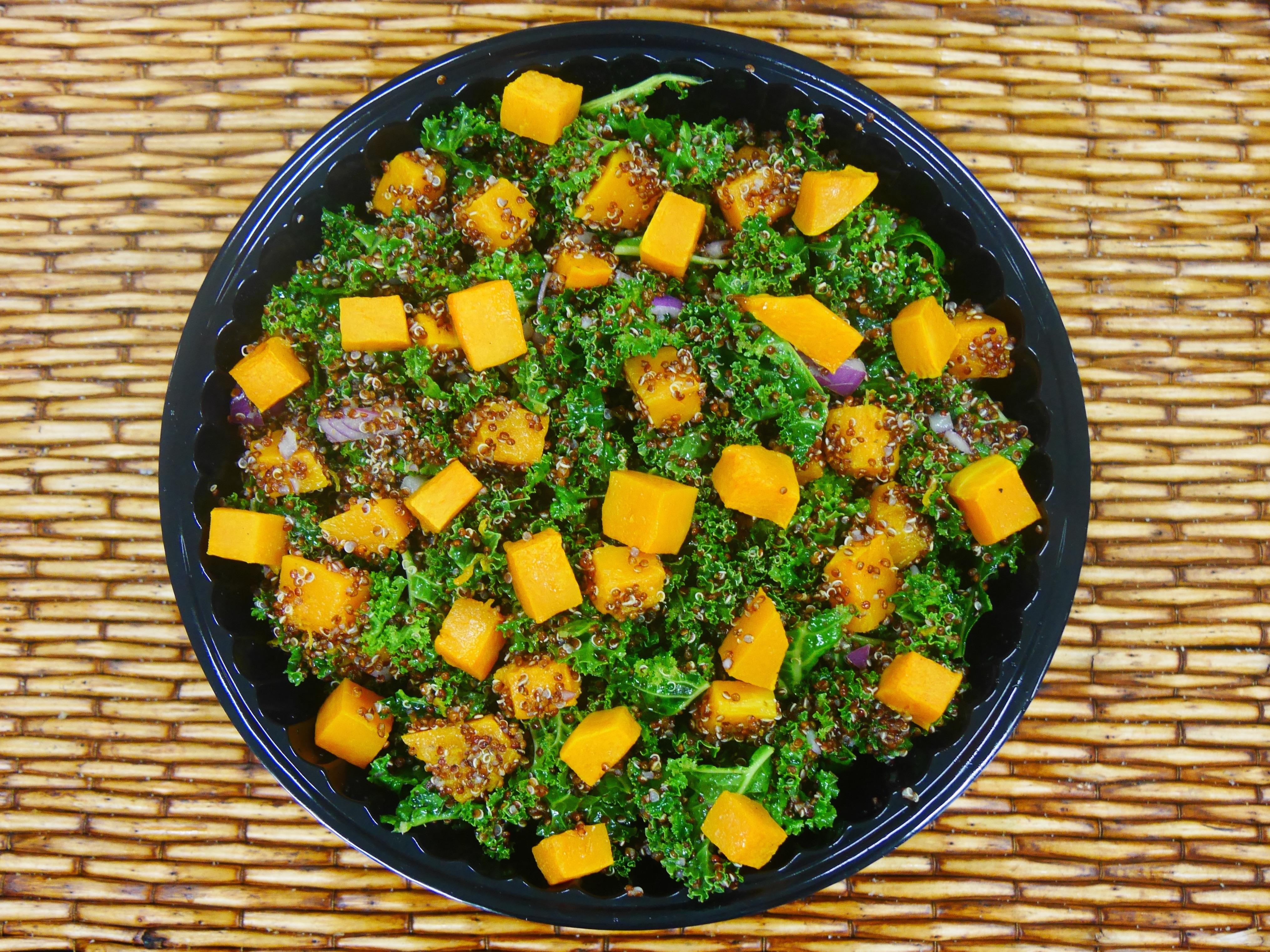 salad kale pumpkin quinoa
