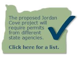 Jordan Cove permits required by Oregon state agencies