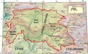 Map of the gas-rich Piceance-Uinta Basin