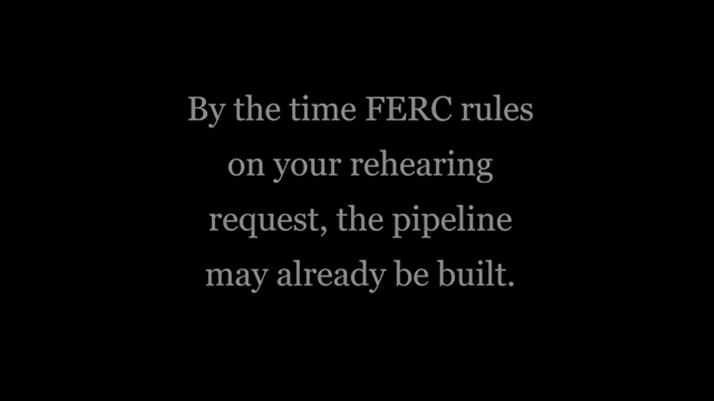 Screenshot from Subcommittee on Civil Rights and Civil Liberties video on landowner rights and the FERC process.