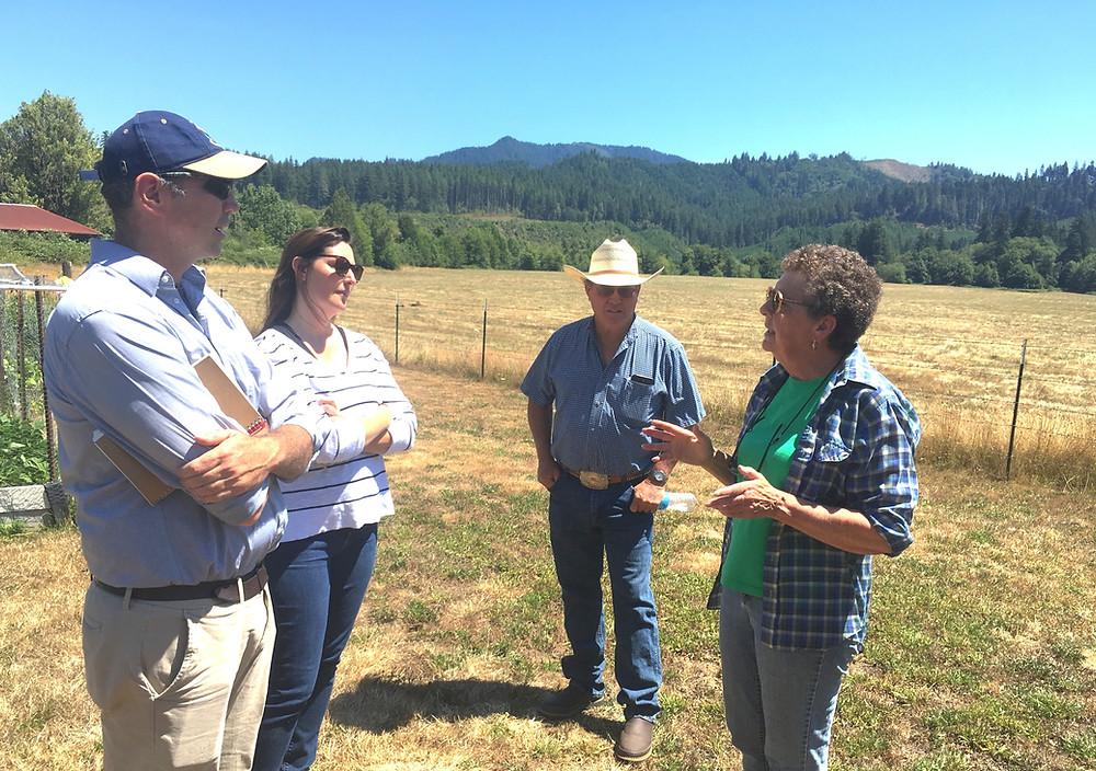 Oregon landowners Pacific Connector pipeline route tour