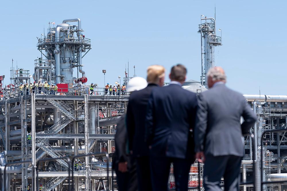 President Trump visits Cameron LNG