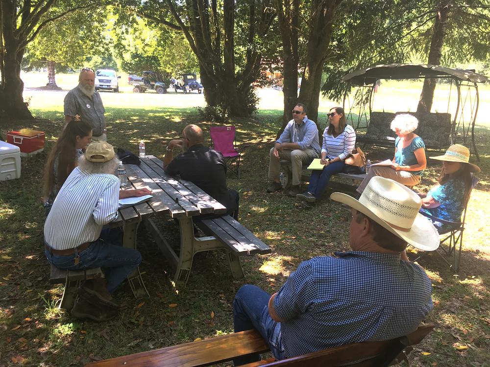 Oregon landowners meet with Dan Whelan and Molly McCarthy