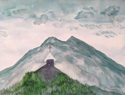 Saint Mary of the Crown  watercolor on p